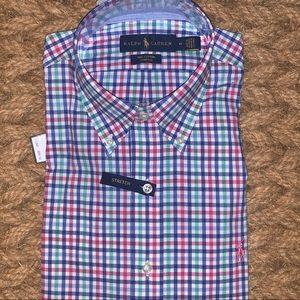 Ralph Lauren Button Down Stretch Shirt Size M NWT